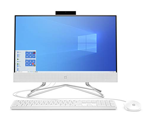 "HP 21.5"" FHD Anti-Glare WLED-Backlit All-in-One AIO Desktop, AMD Athlon Silver 3050U, 16GB DDR4, 512GB PCIe SSD, DVD, Media Card Reader, WiFi, BT, Webcam, Windows 10, Mouse, Keyboard, ABYS Mouse Pad"