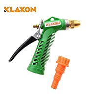 Klaxon Water Spray Gun - Plastic Trigger and Brass Nozzle High Pressure Water Spray Gun for Car/Bike/Plants - Gardening Washing - Green