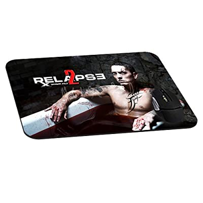 Office Rectangle Mouse Pad with Eminem Cool Relapse Image Cloth Cover Non-Slip Rubber Backing-Gaming Mousepad(8.7x7.1x0.12 Inch)