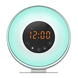 iyoubo Wake Up Light,Sunrise Wake Up Light Alarm Clock,[2018 UPGRADED] Alarm Clock Radio Light Up Colored Sunlight