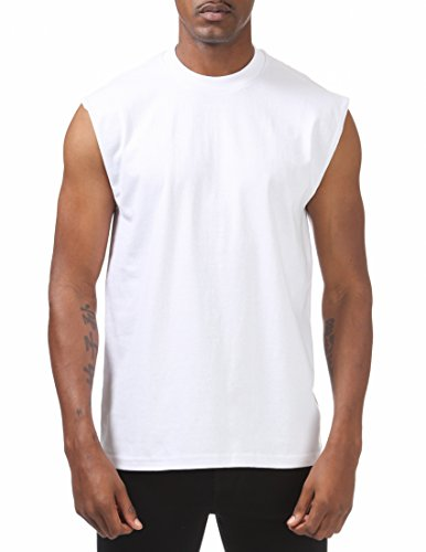 weight Sleeveless Muscle T-Shirt, 5X-Large, Snow White ()