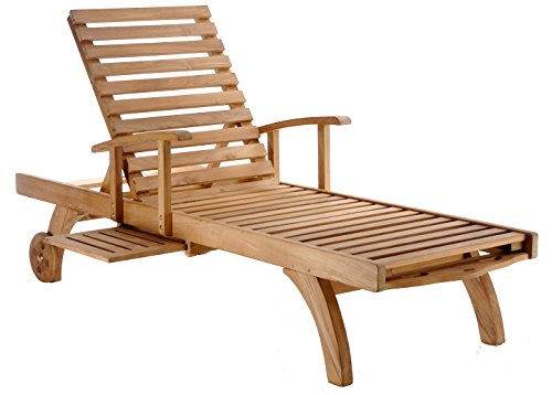 Adjustable Teak Lounger Chaise (CHIC TEAK Teak Bahama Pool Lounger made by)