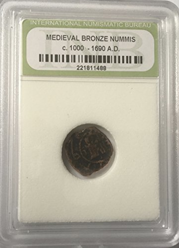1000 - 1690 A.D Medieval Bronze Coin Comes in Hard Case Numbs AG-G