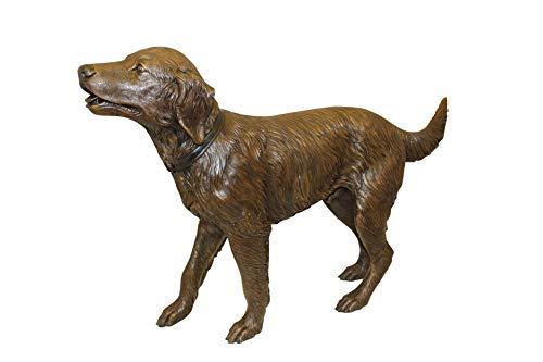 - Golden Retriever Dog Standing - Bronze Statue - Size: 44