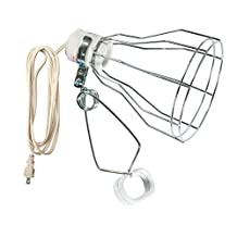 Woods 328 18/2-Gauge Brooder and Heat Clamp Lamp with Porcelain Socket, 150-Watt, 6-Foot