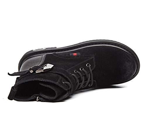 de Tubo de de Cuero Cuero Zapatos Color Cuero Planas Botas tamaño Tobillo Chelsea de LIANGXIE Mate el Botas Cortas en Tobillo de de de Botas Negro Casuales Botas Mujer Botas 37 Botas zWwWqTn61