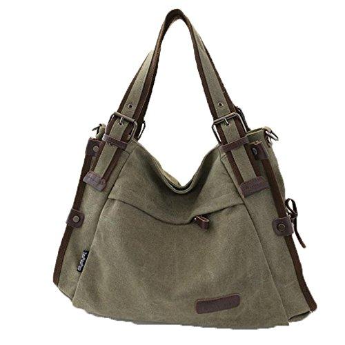 Bag Armygreen Big Grande Femmes Pour Capacité Sac à Toile Classique Main Bandoulière Sac à qOwEwS