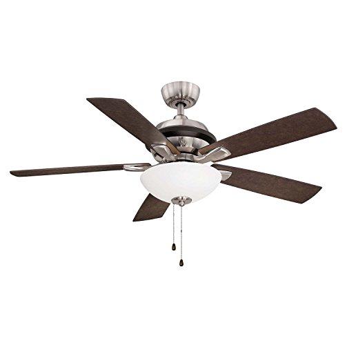 "GE 52"" Landon Indoor Ceiling Fan, Brushed Nickel"