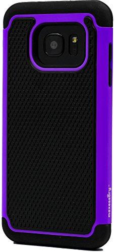 Slim Rugged Shockproof TPU Case For Samsung Galaxy S7 Edge (Black) - 5