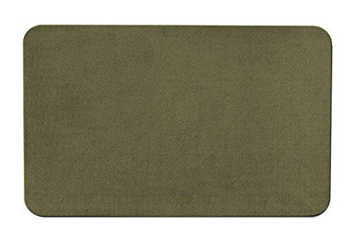 House, Home and More Skid-resistant Carpet Indoor Area Rug Floor Mat - Olive Green - 2' X 3' - Many Other Sizes to Choose From ()