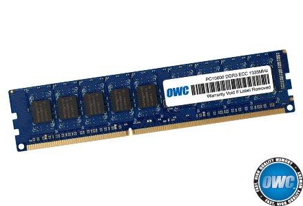 OWC 4.0GB DDR3 ECC PC-10600 1333MHz SDRAM PC3-10600 ECC For Mac Pro 'Nehalem' & 'Westmere' Models.Retail Pack Single With UPC Model OWC1333D3ECC4GB-S