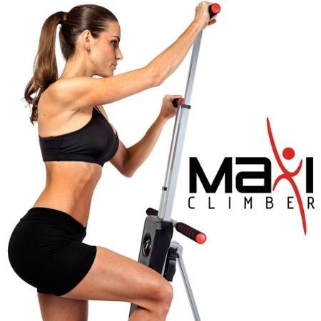 MaxiClimber Total Body Workout Made Of Durable Cold-Rolled Steel, Digital Calorie And Step Counter