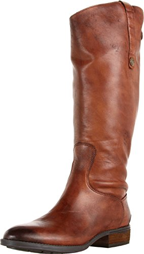 - Sam Edelman Women's Penny Riding Boot, Whiskey Leather, 8.5 Wide US