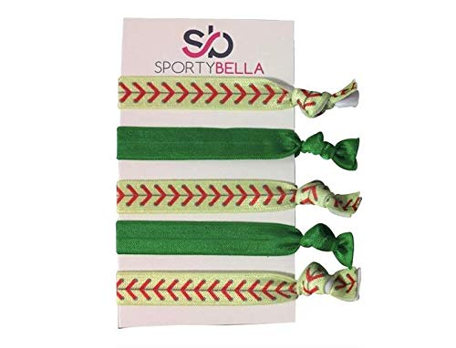 Softball Hair Ties Softball Hair Accessories Softball Hair Elastics Set