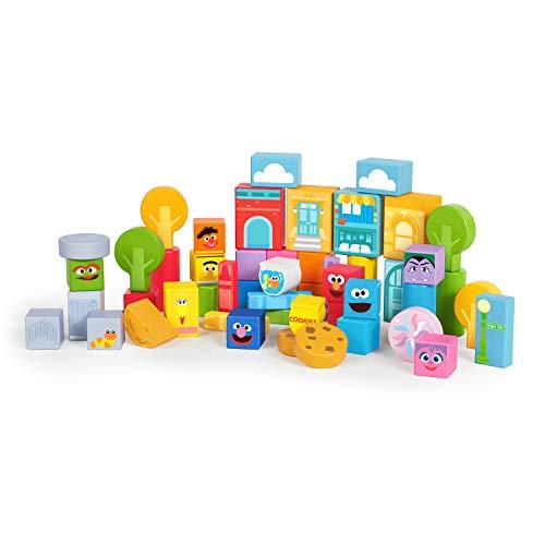 Bright Starts Sesame Street Set-The-Scene Sesame Street Wooden Storytelling Blocks, Ages 12 Months + -