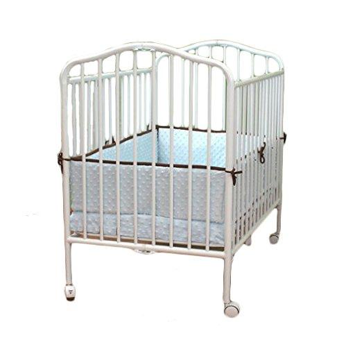 LA Baby Mini Portable Crib, White