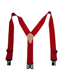 Perry Suspenders Mens Elastic Hook End 2 Inch Work Suspenders (Tall Available)