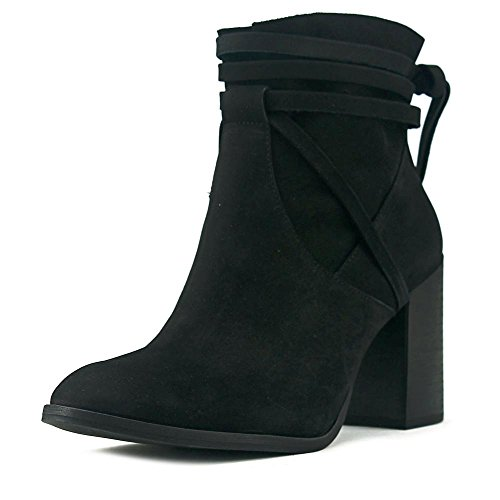 Steve Madden Womens Percy Leather Almond Toe Ankle Fashion Boots Black nubuck oeiX7z