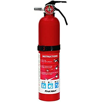 First Alert 2.5 Pound Rechargeable Fire Extinguisher - HOME1 - 1-A:10-B:C - 10 -Year Warranty