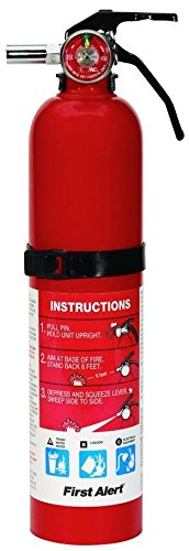 First Alert 2.5 Pound Rechargeable Fire Extinguisher - HOME1 - 1-A:10-B:C - 10 -Year Warranty (Small Fire Extinguisher)