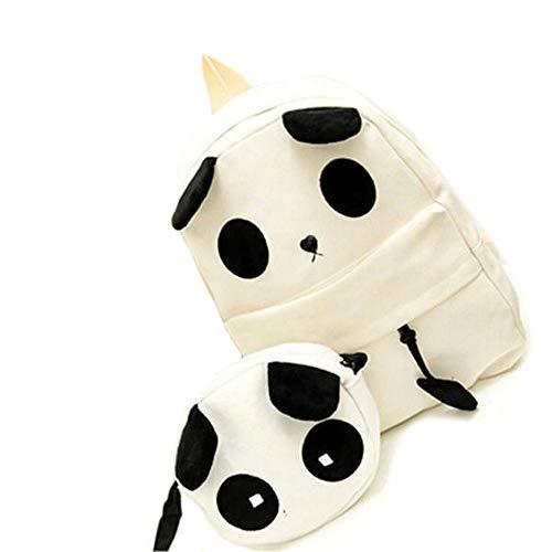 キャンバスかわいいパンダパターンの学校のバッグ女性のハンドバッグのバックパック YZUEYT