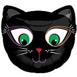 Junior Shape Foil Black Cat Halloween Balloon