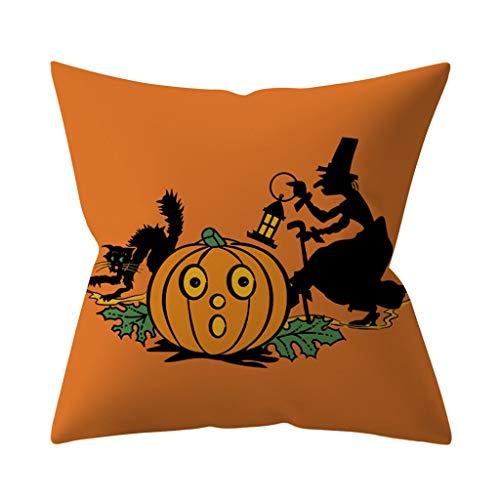 Pillow Inserts,Halloween Pumpkin Throw Pillow Cover Pillowcases Decorative Sofa Cushion Cover,Soft,Throw Pillows, Software