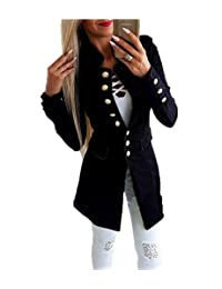 Women's Long Sleeve Casual Work Solid Color Blazer Slim Fit Work Office Jacket