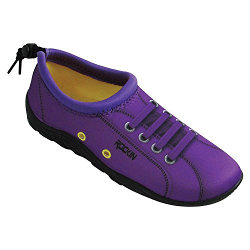 Best Rockin Footwear Womens Water Shoes - Rockin Footwear Womens Aqua Foot SNEAKS
