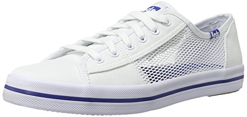 Keds Women's Kickstart Mesh Fashion Sneaker, White, 8.5 M US