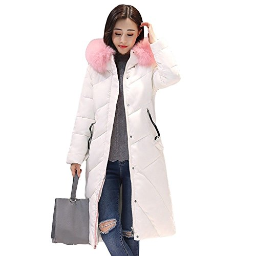 Big Jacket Collar Fur L White Parka Down Black Haka Long Coat Warm Women Thicken XL Winter Outw BqwxXt5Cy
