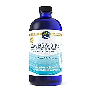 Nordic Naturals Omega-3 Pet Oil Supplement, Promotes Optimal Pet Health and Wellness, for Large to Very Large Breed Dogs and Multi-Dog , 16 oz – Standard Packaging