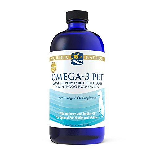 Nordic Naturals Omega-3 Pet Oil Supplement, Promotes Optimal Pet Health and Wellness, for Large to Very Large Breed Dogs and Multi-Dog , 16 oz - Standard Packaging (Best Form Of Omega 3 Supplement)