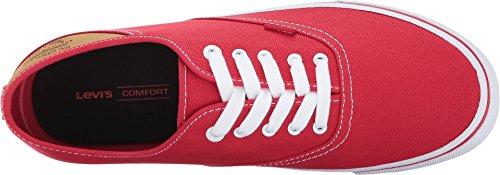 Levis Shoes Mens Buck CT Canvas Red vKyFrmDx