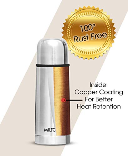 Milton Thermosteel Flip Lid Flask, 350 milliliters, Silver 3