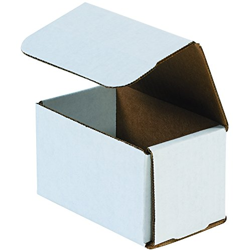 "Aviditi M775 Corrugated Mailers, 7"" x 7"" x 5"", Oyster Whi..."