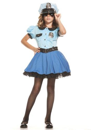 Starline, LLC. Police Uniform Costume Medium (Girls Blue Police Officer Costume)