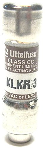 (Littelfuse KLKR-3 (KLKR3) or KLKR003, 3Amp (3A) 600V Fast Blow Class CC Cartridge Fuse (Pack of 5) )