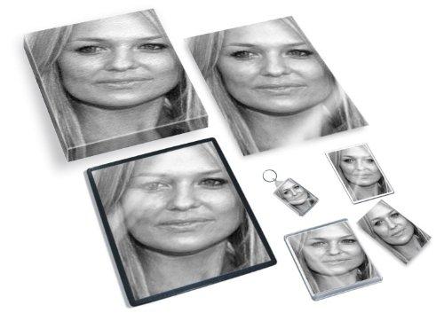 EMMA BUNTON - Original Art Gift Set #js003 (Includes - A4 Canvas - A4 Print - Coaster - Fridge Magnet - Keyring - Mouse Mat - Sketch - Spice Wannabe Baby