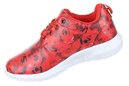 Damen Schuhe Freizeitschuhe Sneakers Turnschuhe Rot