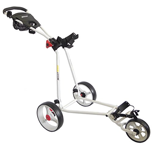 Bullet 5000 Deluxe 3 Wheel Trolley in White by Cruiser Golf