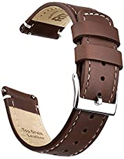 Ritche Quick Release Leather Watch Band Top Grain Leather Watch Strap 18mm, 20mm or 22mm for Men and Women