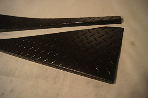 1988 Enamel (1987-1995 Jeep YJ Matte Black Enamel Diamond Plate 40 INCH Fender Panel Covers Off-Road with A 90 Degree Bend)