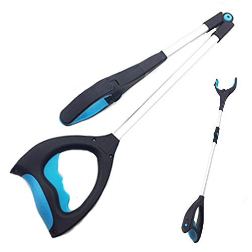 Grabber Tool Mobility Aid Pick Up Long Arm Gripper - 32'' Foldable Hand Tools for Light Bulb Remover Litter Picker Hold Wine Glass by YIFEIKU Co.,Ltd.