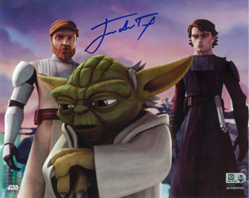 Taylor Clone - Star Wars Authentics: James Arnold Taylor as OBI-Wan Kenobi 8x10 Autographed in Blue Ink Photo from 'Star Wars: The Clone Wars' - The Official Partner of Star Wars