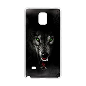 Wolf Face Samsung Galaxy Note 4 Cell Phone Case White JU0036342