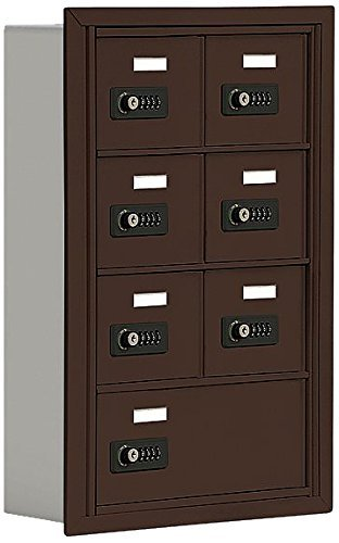 Salsbury Industries 19045-07ZRC Cell Phone-4 Unit Recessed Mounted-Resettable Combination Locks with 5-Inch Diameter Compartments Bronze [並行輸入品] B07N8BWMNH