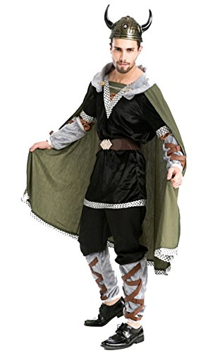 Mens Hobbits Dwarf Costume Battle Outfit Robe Cape Suit Halloween Cosplay