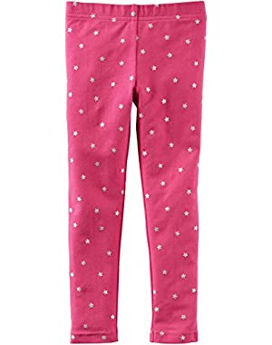 Baby Girl Patterned Full Length Leggings