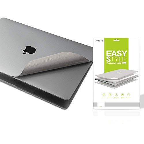 "VFENG Premium 6 in 1 3M Vinyl Full Body Skin Cover for 2011-2015 Released MacBook Pro 13.3 Inch 13"" with CD-ROM Version (Model:A1278) Only, with High Clear Screen Protector - Gray"